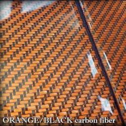 1m2, TWILL, Fibra carbon, portocaliu cu negru